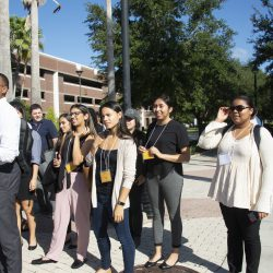 Doctoral candidates touring UCF.