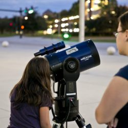 Space Moon Viewing
