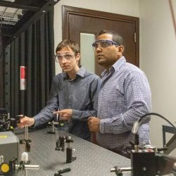 Associate professor Subith Vasu and doctoral student Zachary Loparo are studying what happens inside a fire.