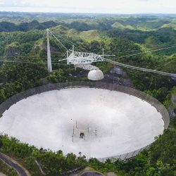 The Arecibo Observatory is 118 acres wide.