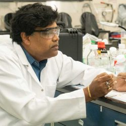 Sudipta Seal in his lab